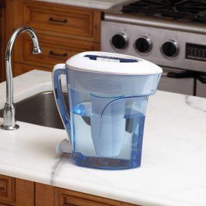 Zero Water PItcher on Kitchen