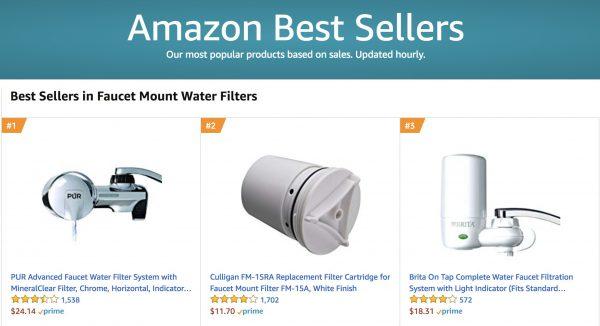 Amazon Best Seller Faucet Filter