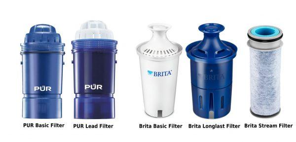 PUR and Brita Pitcher Filter Cartridge