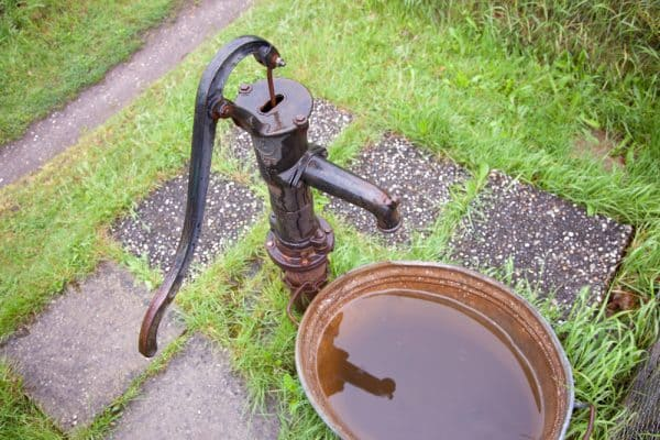 old cast iron water pump
